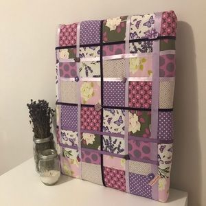 Other - Handmade Purple Quilted Keepsake Board